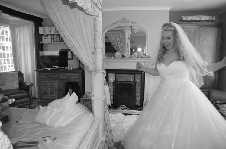 Lucinda Barry B&W Wedding Photo